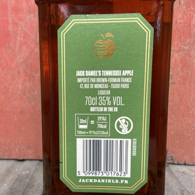 JACK DANIEL'S APPLE - TENNESSEE WHISKEY - 35% vol