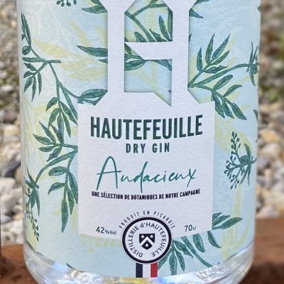 HAUTEFEUILLE - DRY GIN - AUDACIEUX  - 70 CL